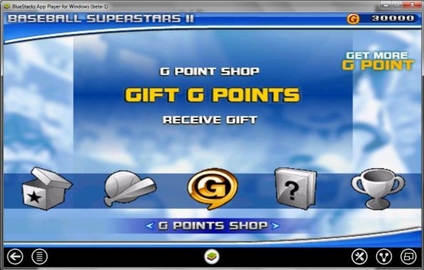 Blog - Baseball Superstars II gift G points